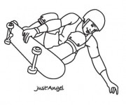 Coloriage Skateboard 5
