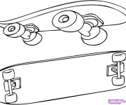 Coloriage Skateboard 8