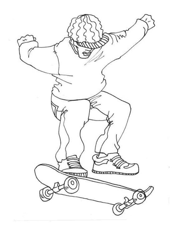 Coloriage et dessins gratuits Skateboard au crayon pour enfant à imprimer