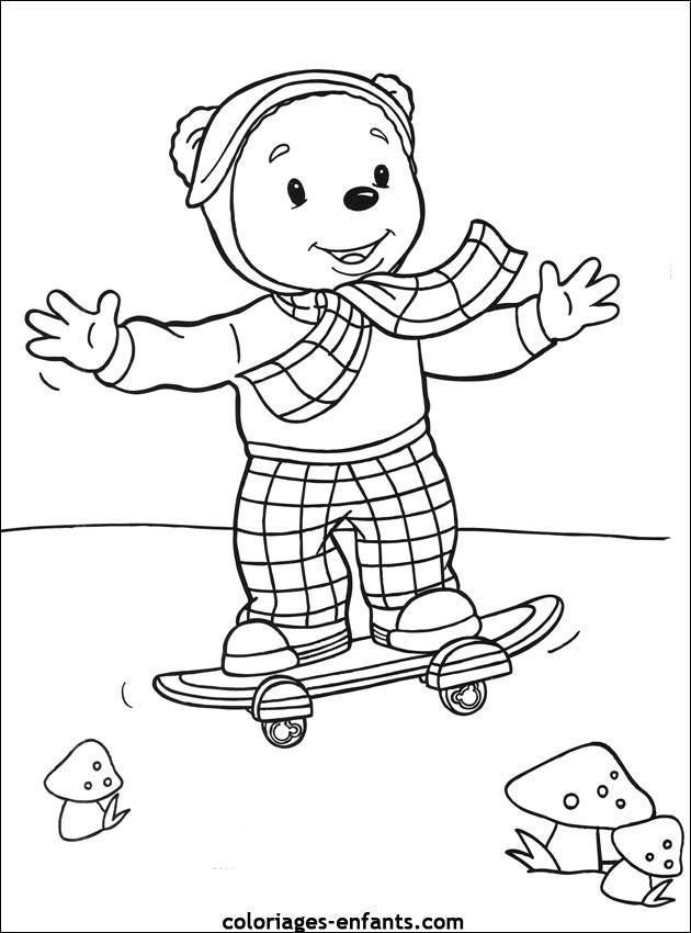 Coloriage et dessins gratuits Skateboard Disney à imprimer