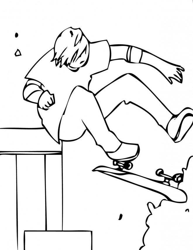 Coloriage et dessins gratuits Skateboard en ligne à imprimer