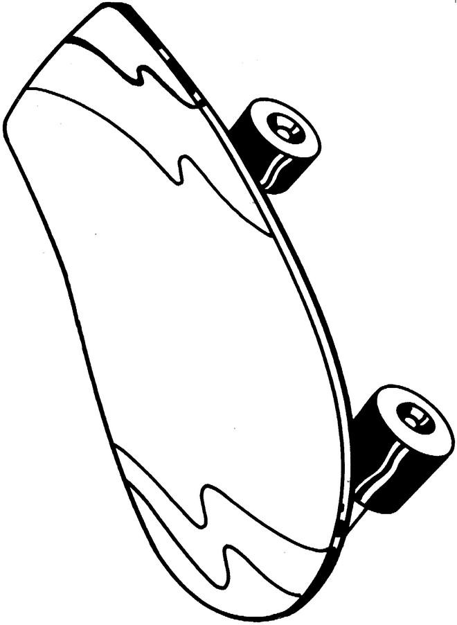 Coloriage Skateboard En Noir Et Blanc Dessin Gratuit à Imprimer