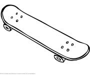 Coloriage Skateboard facile