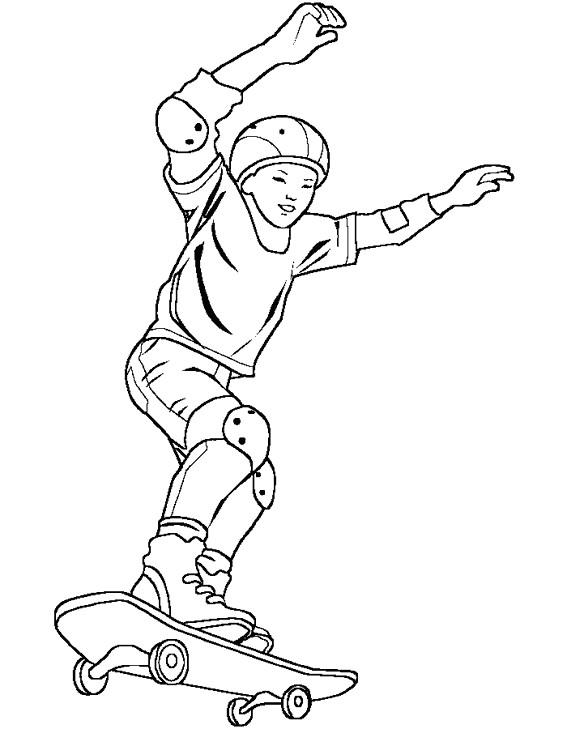 Coloriage Skateboard pour enfant dessin gratuit à imprimer