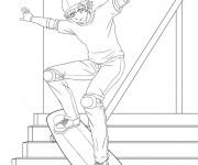 Coloriage Skateboard pour les jeunes