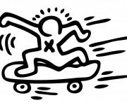 Coloriage Skateboard vectoriel