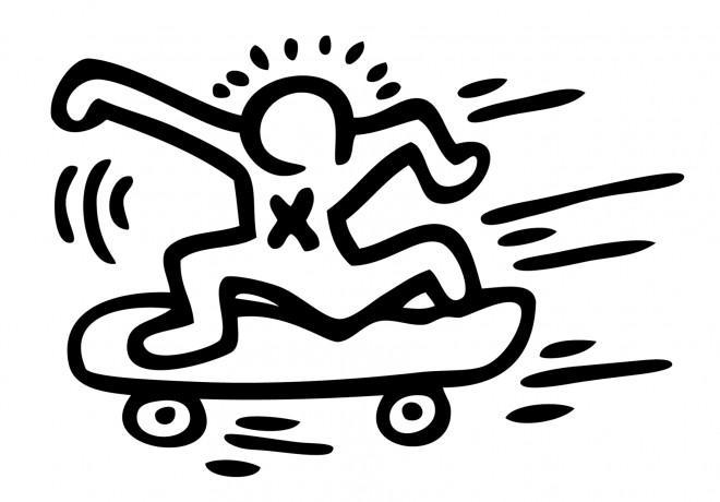 Coloriage et dessins gratuits Skateboard vectoriel à imprimer