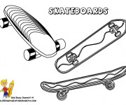 Coloriage Skateboards à découper