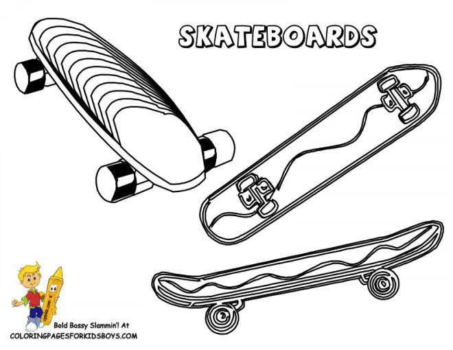 Coloriage et dessins gratuits Skateboards à découper à imprimer