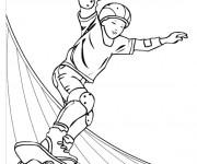 Coloriage Skatepark couleur