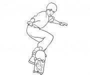 Coloriage et dessins gratuit Skateur en couleur à imprimer