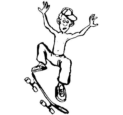 Coloriage et dessins gratuits Skateur humoristique à imprimer