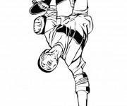 Coloriage Skateur professionnel