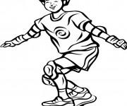 Coloriage Skateur s'amuse sur la Planche