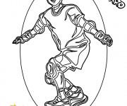 Coloriage Skateur super content