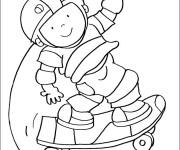 Coloriage Skateur sur sa planche