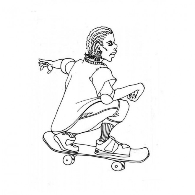 Coloriage et dessins gratuits Sport Skateboard à imprimer