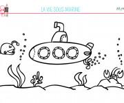 Coloriage et dessins gratuit Fond Marin pour enfant à imprimer
