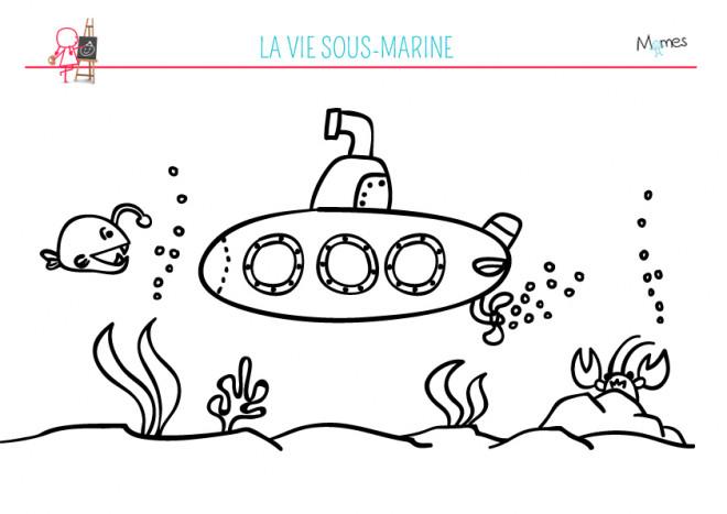 Coloriage et dessins gratuits Fond Marin pour enfant à imprimer