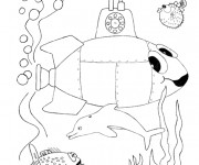 Coloriage Illustrations Sous Marin