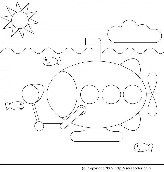 Coloriage sous marin 13 dessin gratuit imprimer - Dessin sous marin ...