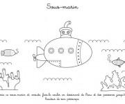 Coloriage et dessins gratuit Sous Marin à colorier à imprimer