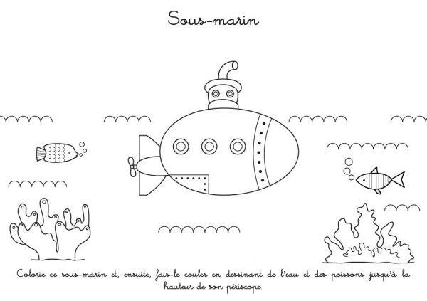 Coloriage sous marin colorier dessin gratuit imprimer - Coloriage sous marin ...