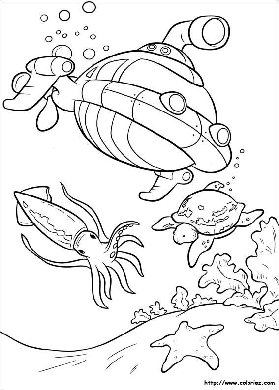 Coloriage et dessins gratuits sous-marin des Petit Einstein facile à imprimer