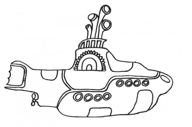 Coloriage et dessins gratuits Sous Marin dessin animé à imprimer