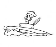 Coloriage Sous Marin et le marin drôle