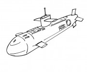 Coloriage et dessins gratuit Sous Marin militaire à imprimer