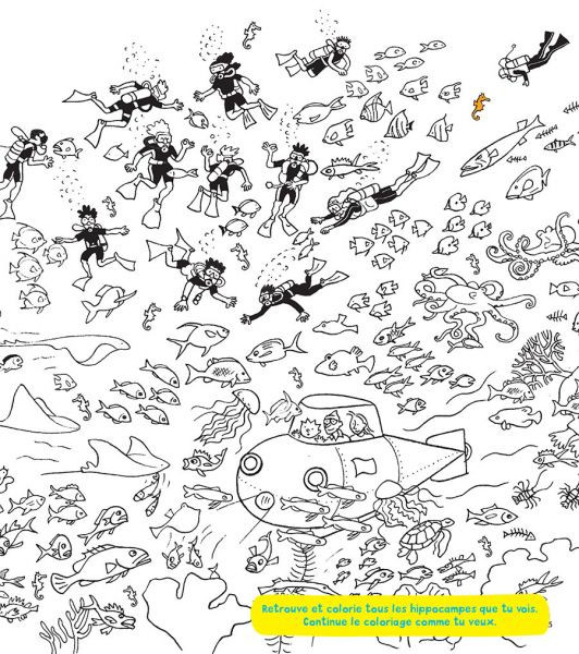 Coloriage sous marin sous la mer dessin gratuit imprimer - Coloriage sous marin ...