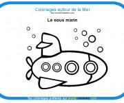 Coloriage et dessins gratuit Un petit sous marin à imprimer