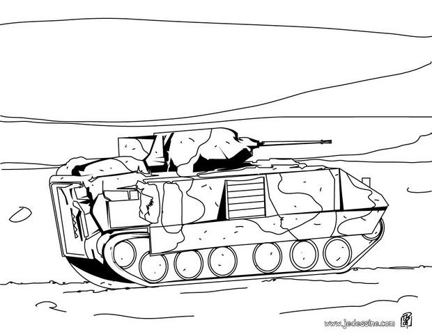 Coloriage et dessins gratuits Char d'assaut à imprimer
