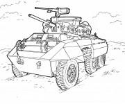 Coloriage Char de guerre à découper