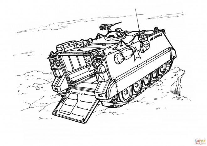 Coloriage et dessins gratuits Char de guerre sur une falaise à imprimer