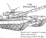 Coloriage Char militaire