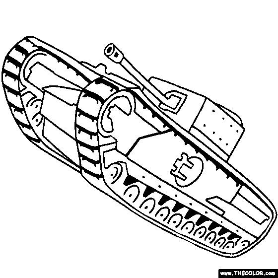 Coloriage et dessins gratuits Char militaire couleur à imprimer