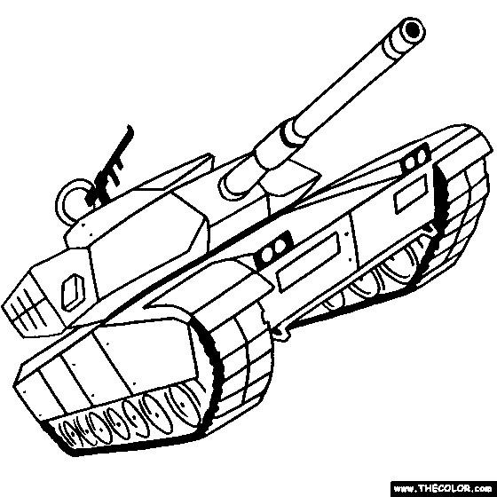 Coloriage et dessins gratuits Char militaire maternelle à imprimer