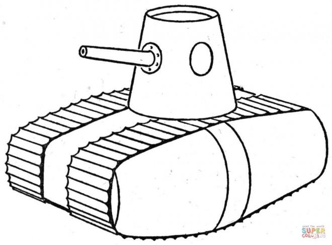 Coloriage et dessins gratuits Illustration Tank à imprimer