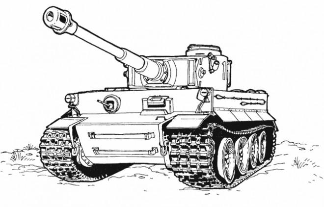 Coloriage et dessins gratuits Image de Tank à imprimer