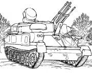 Coloriage et dessins gratuit Militaire Tank à imprimer