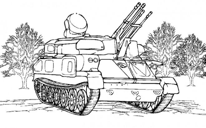 Coloriage et dessins gratuits Militaire Tank à imprimer