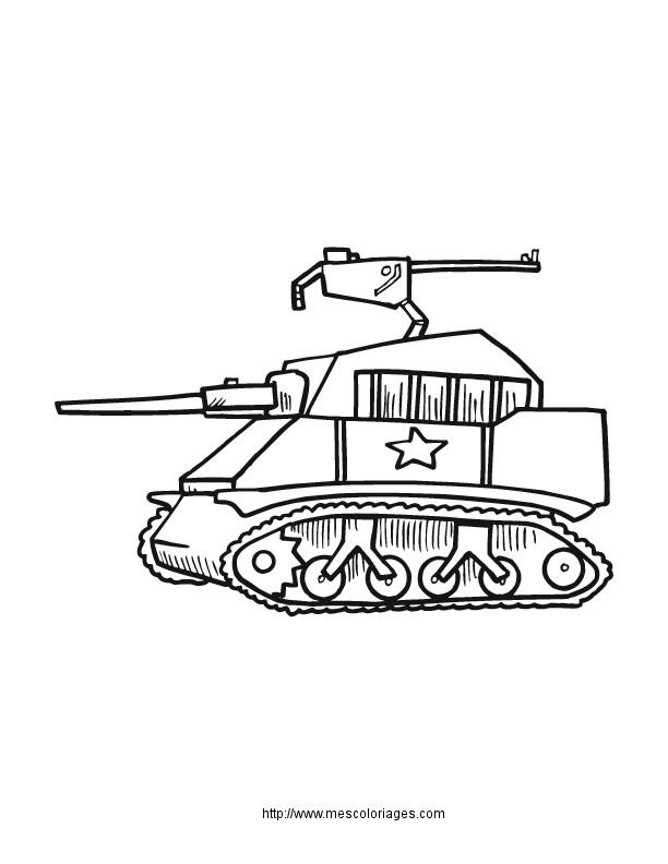 Coloriage et dessins gratuits Petit Tank à imprimer