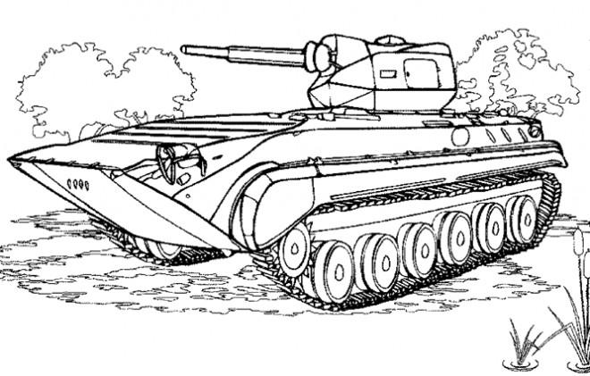 Coloriage Tank Abraham Dessin Gratuit A Imprimer