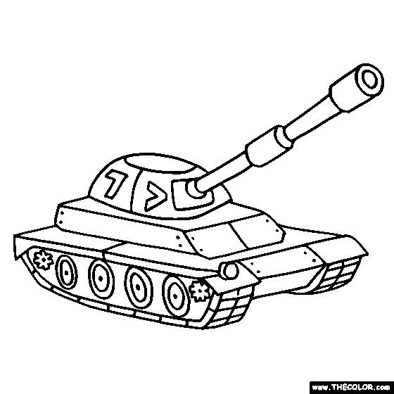 Coloriage Tank Blindé Dessin Gratuit à Imprimer