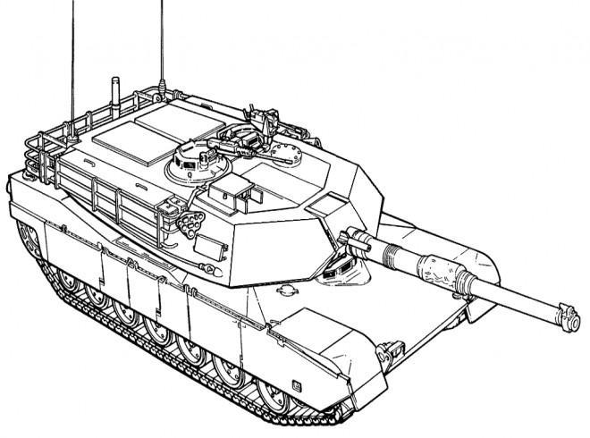 Coloriage et dessins gratuits Tank de guerre en ligne à imprimer