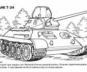 Coloriage et dessins gratuit Tank de Guerre TAHK T-34 à imprimer