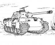 Coloriage Tank dessin de militaire