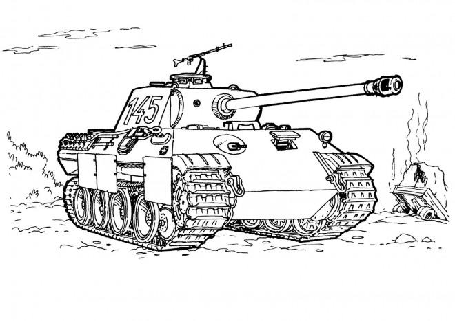 Coloriage et dessins gratuits Tank dessin de militaire à imprimer